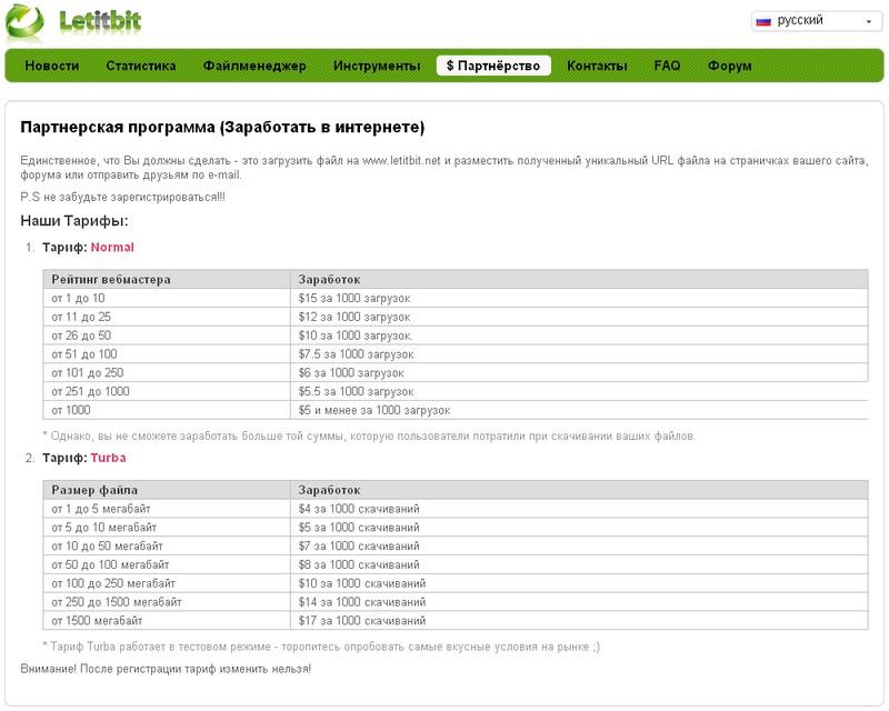 Легкий заработок на файлообменникe – Способ хорошего заработка на LetitBit